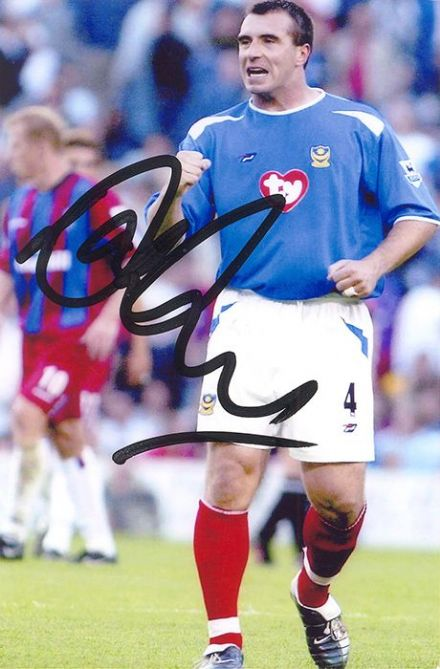 David Unsworth, Portsmouth, signed 6x4 inch photo.